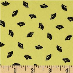 Robin Crepe Fan Print Yellow