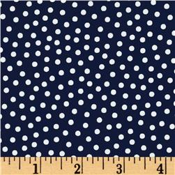 Mardi Gras Small Dot Navy White