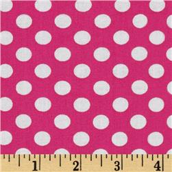 Kaufman Spot On Medium Dot Hot Pink