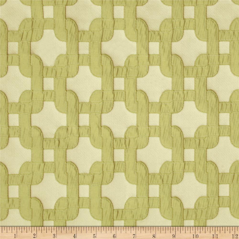 Swavelle Mill Creek Shock Collar Jacquard Celery