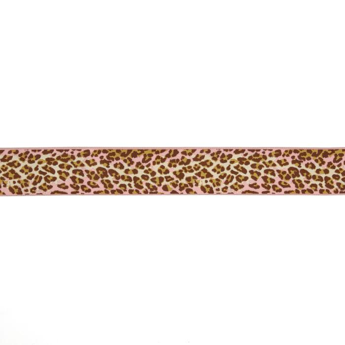 1-1/2'' Anna Maria Horner Ombre Leopard Ribbon Pink/Brown