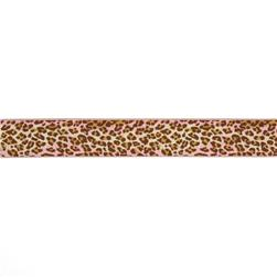 "1-1/2"" Anna Maria Horner Ombre Leopard Ribbon Pink/Brown"