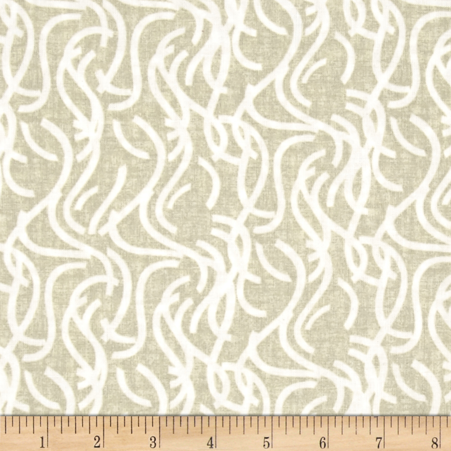 Noodle Doodle 108'' Wide Quilt Back Light Taupe Fabric by Studio E in USA