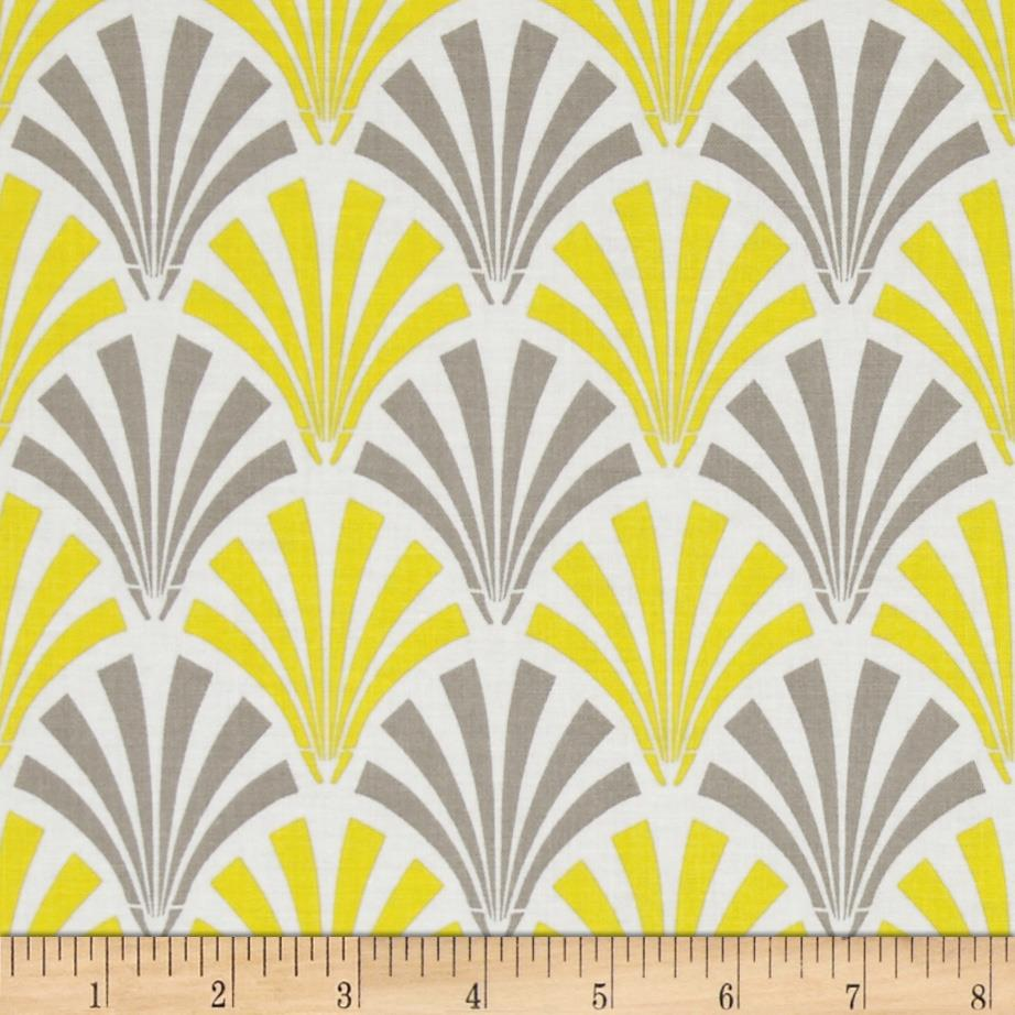 Design Studio Deco Fans Yellow/Gray