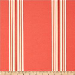 Terrasol Indoor/Outdoor Cabana Stripe Coral Fabric