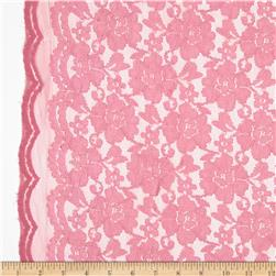 Floral Stretch Lace Cameo Pink