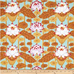 Kaffe Fassett Lotus Stripe Pastel Blue Fabric