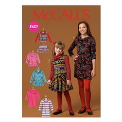 McCall's Children's/Girls' Top, Dress and Pants Pattern M7009
