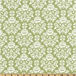 Pimatex Basics Damask Celery/White Fabric
