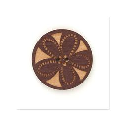 Organic Elements Wood Button 1 1/2'' Red