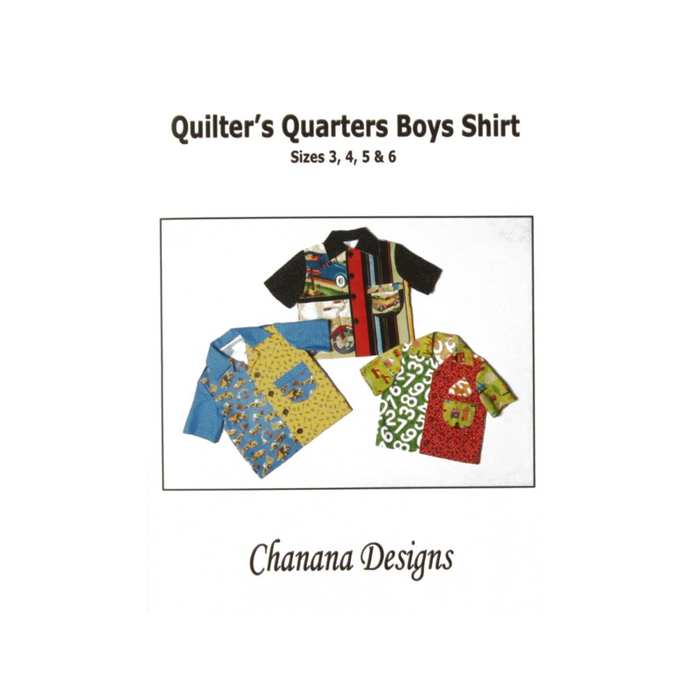 Chanana Designs Quilter's Quarters Boys Shirt Pattern Size