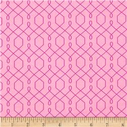Michael Miller Emma's Garden Lovely Lattice Pink