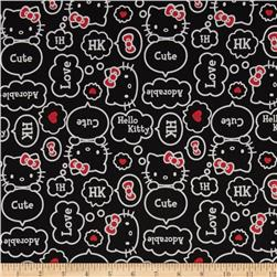 Sanrio Hello Kitty Thought Bubbles Black