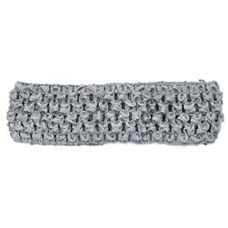 "1-3/4"" Stretch Crochet Headband Grey"