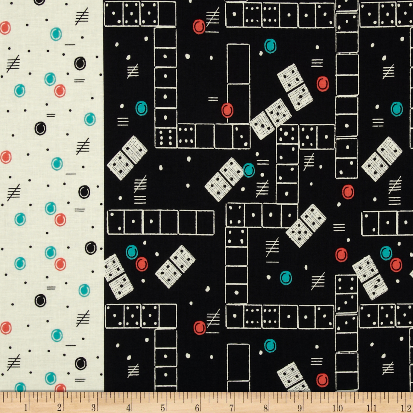 Michael Miller Classic Games Domino Effect Mermaid Fabric