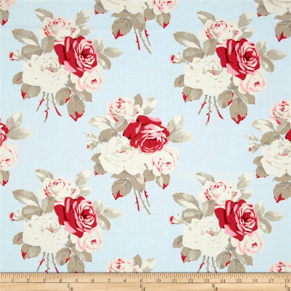 Petal Large Antique Roses Blue