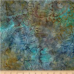 Batavian Batiks Fronds Steel Multi