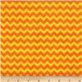 Timeless Treasures Ziggy Small Chevron Orange