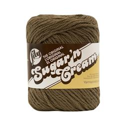 Lily Sugar 'n Cream Yarn Solid (01130) Warm Brown