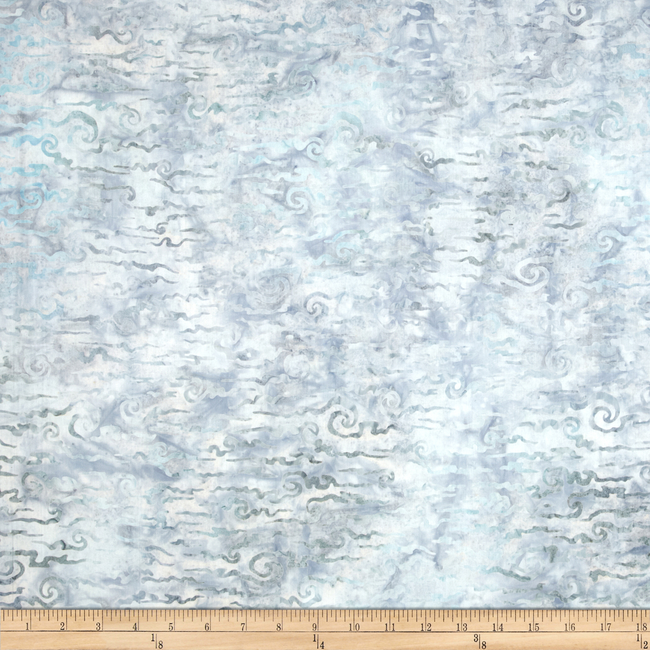 Artisan Batiks Nature's Creations Clouds Pewter Fabric