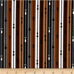 A Stitch In Time Zippers Brown