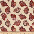Night Owls Small Allover Owls Cream