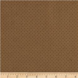 Morgan Fleece-Backed Perforated Suede Taupe