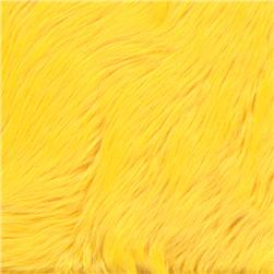 Faux Fur Luxury Shag Yellow