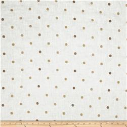 Fabricut Hollander Dot Linen Blend Taupe
