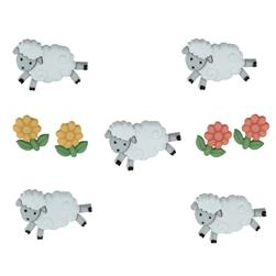 Dress It Up Embellisment Buttons  Counting Sheep