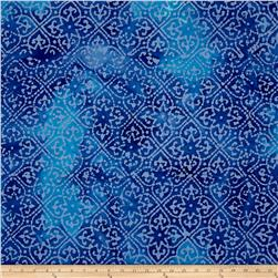 Indian Batik Mirage Patch Blue