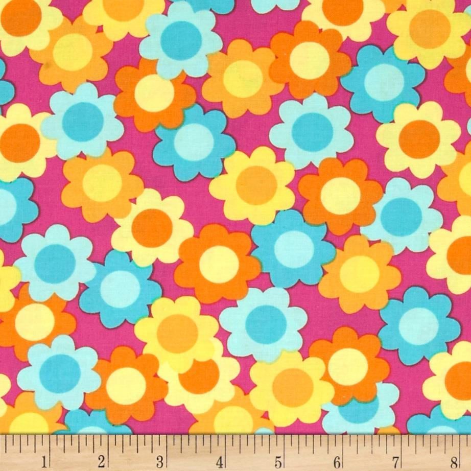 Dots Right Daisy Collage Pink