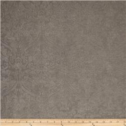Ramtex Faux Leather Damask Silver