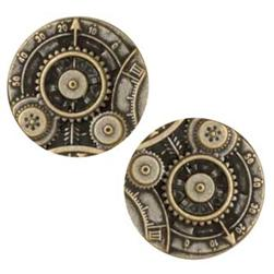 Metal Button 7/8'' Mechanism Antique Brass