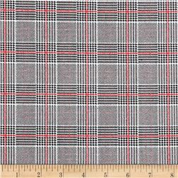 Hounstooth Plaid Denim Plaid Black/Red/White