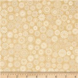 Winter's Grandeur Metallic Small Medallions Natural