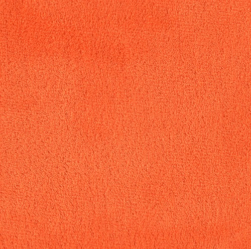 Double-Sided Minky Fleece Orange Fabric