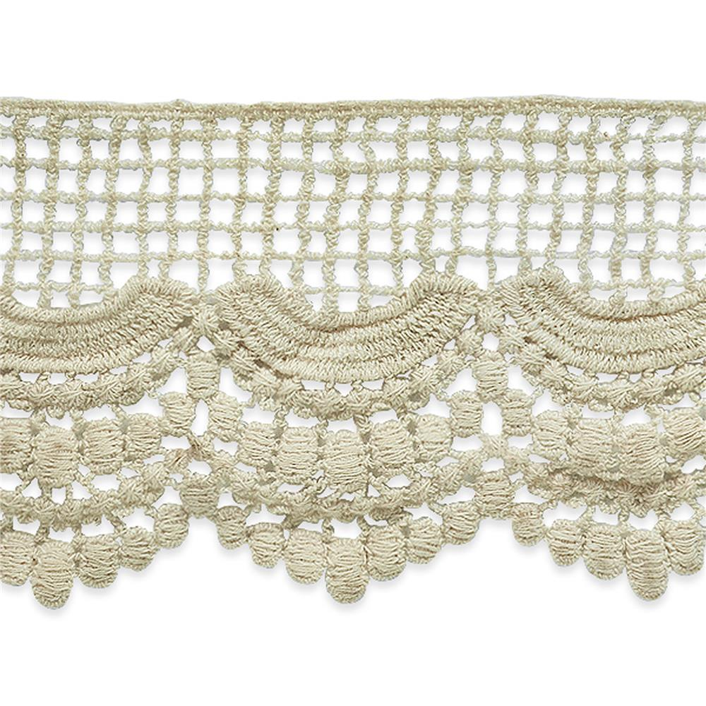 "3 1/2"" Janice Cotton Lace Trim Natural"