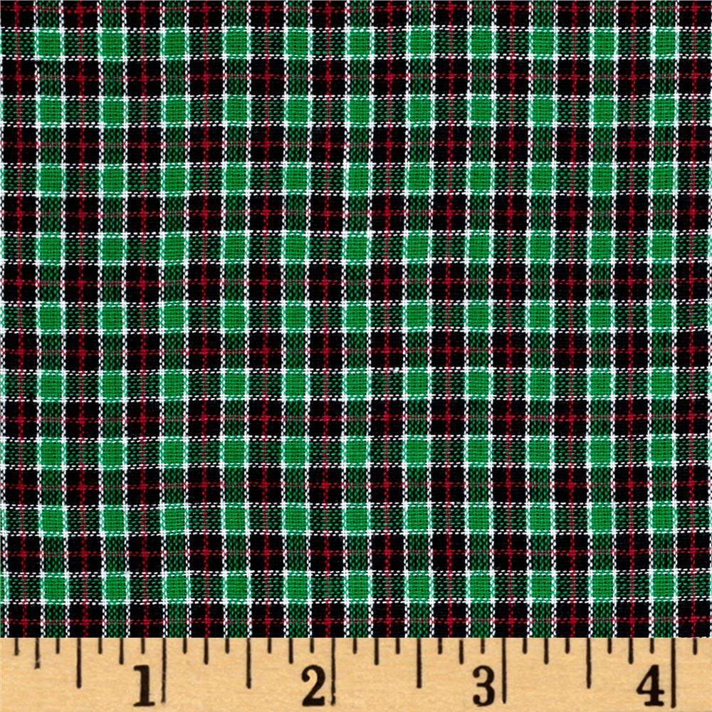 Rustic Woven Small Plaid Navy/Red/Green/Yellow Fabric