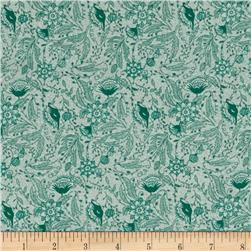 Reproduction Floral Mint Green