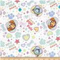 Nickelodeon Paw Patrol Pup Pals 4ever Flannel White