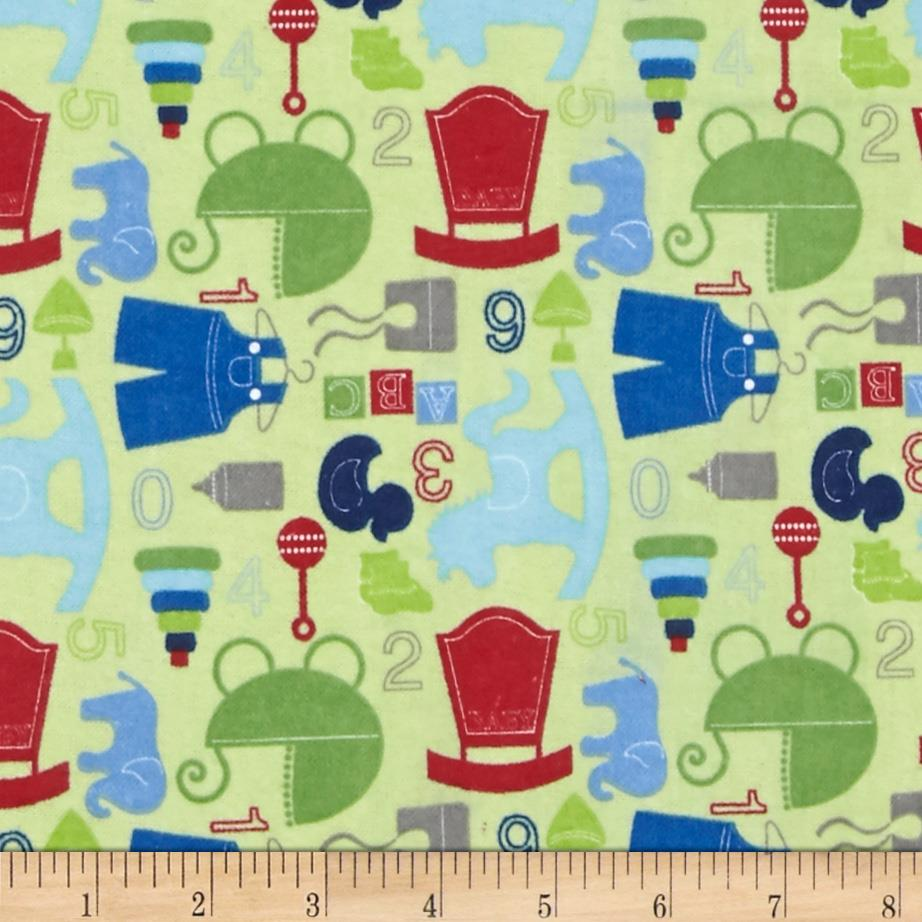 Alpine Flannel Baby Boy Green