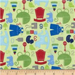 Alpine Flannel Baby Boy Green Fabric
