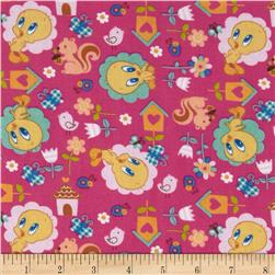 Baby Tweety Nature Lover Pink Fabric