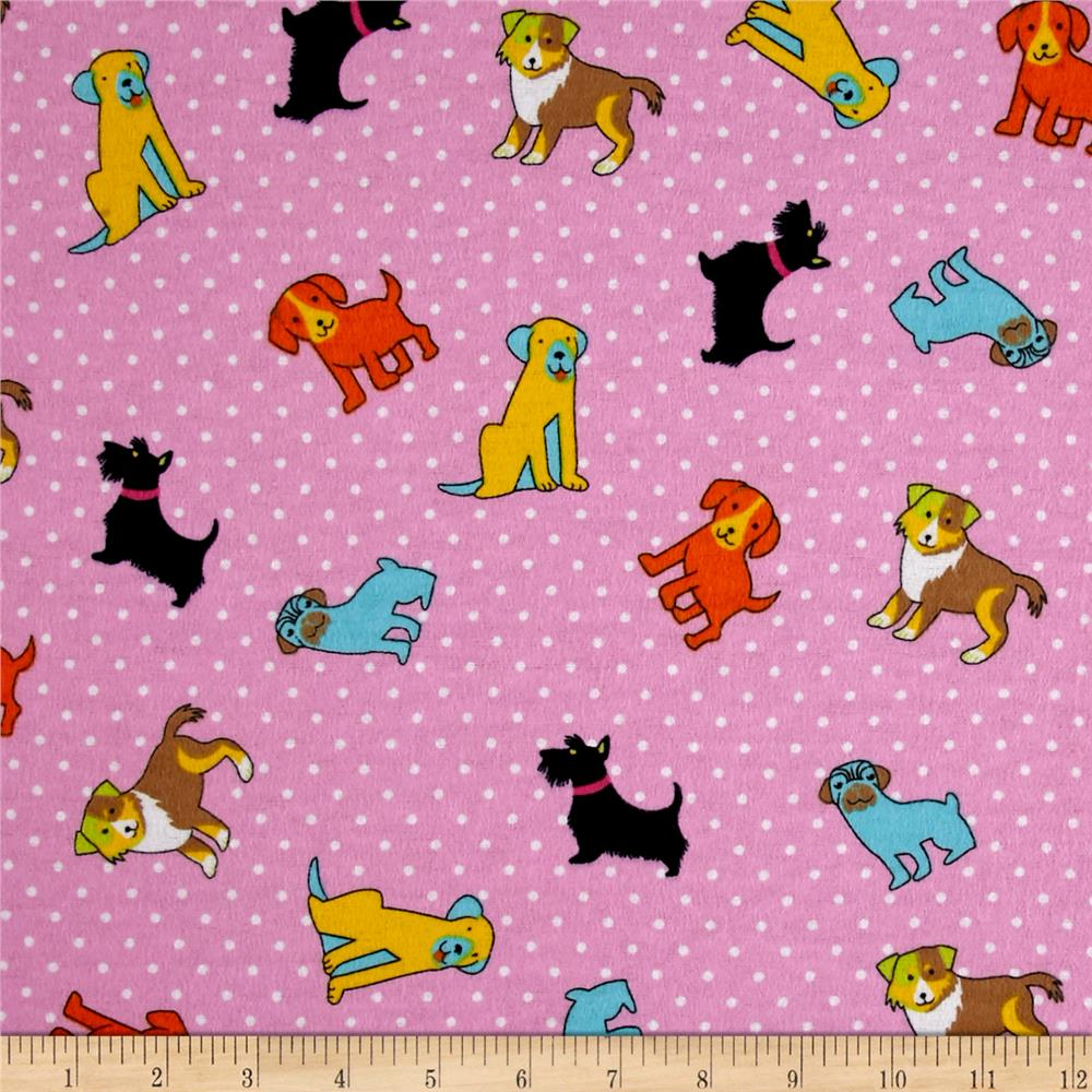 Flannel Rescue Dog Pink