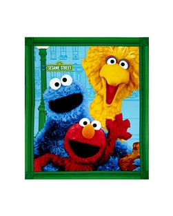 Elmo & Friends Character Face 35.5 In. Panel Multi