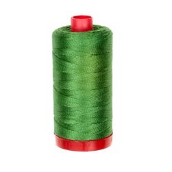 Aurifil 12wt Embellishment and Sashiko Dreams Thread Dark Grass Green