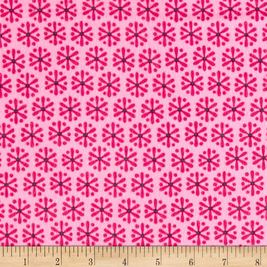 Kanvas Knitty Kitty Flannel Jax Pink