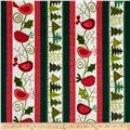 Evergreen Christmas Repeating Stripe Multi