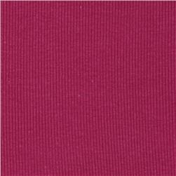 Basic Cotton Rib Knit Magenta